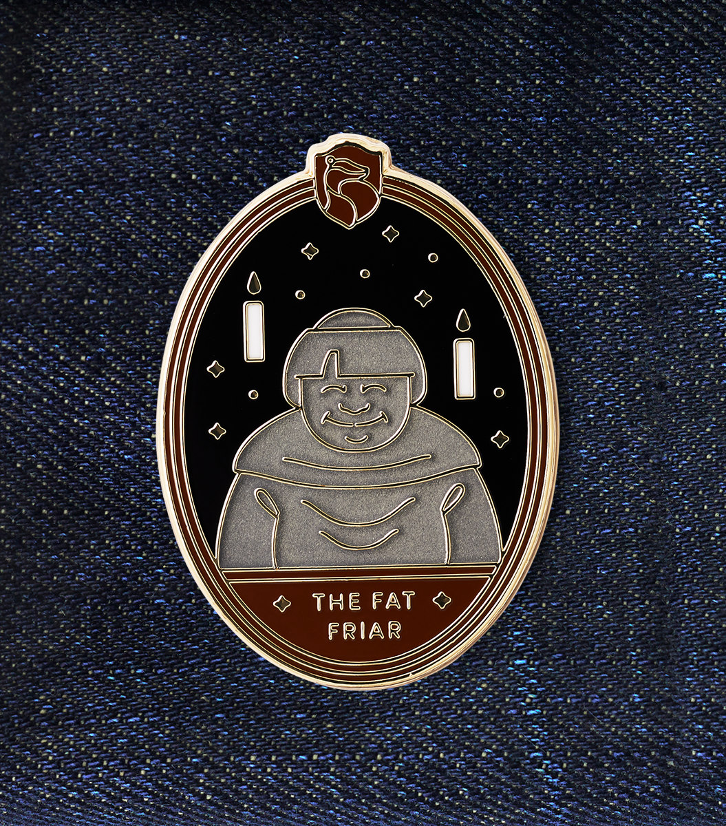 The Fat Friar Enamel Pin