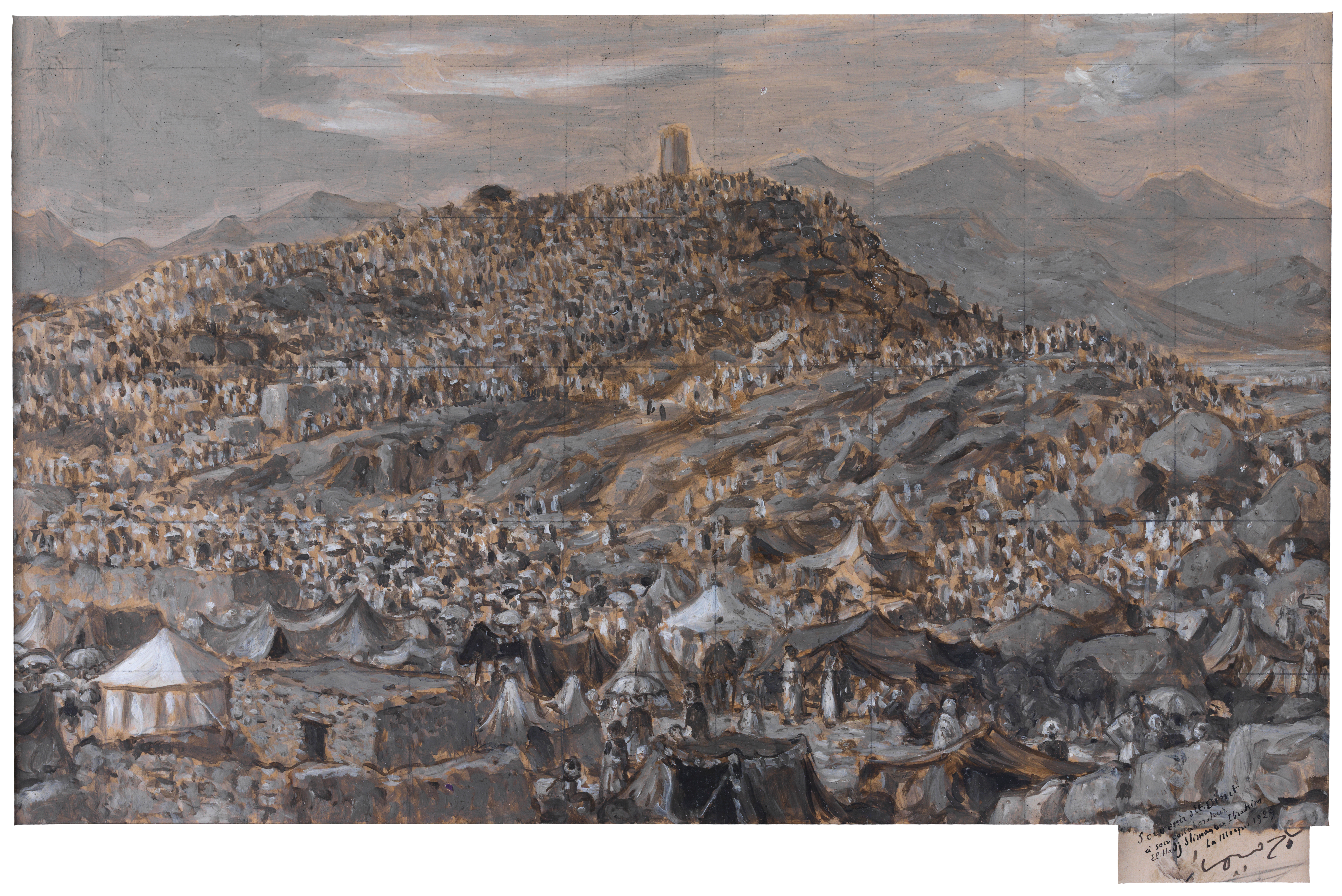 The pilgrims at Mount Arafat on the 9th day of dhu'l-Hijjah, by Etienne Dinet