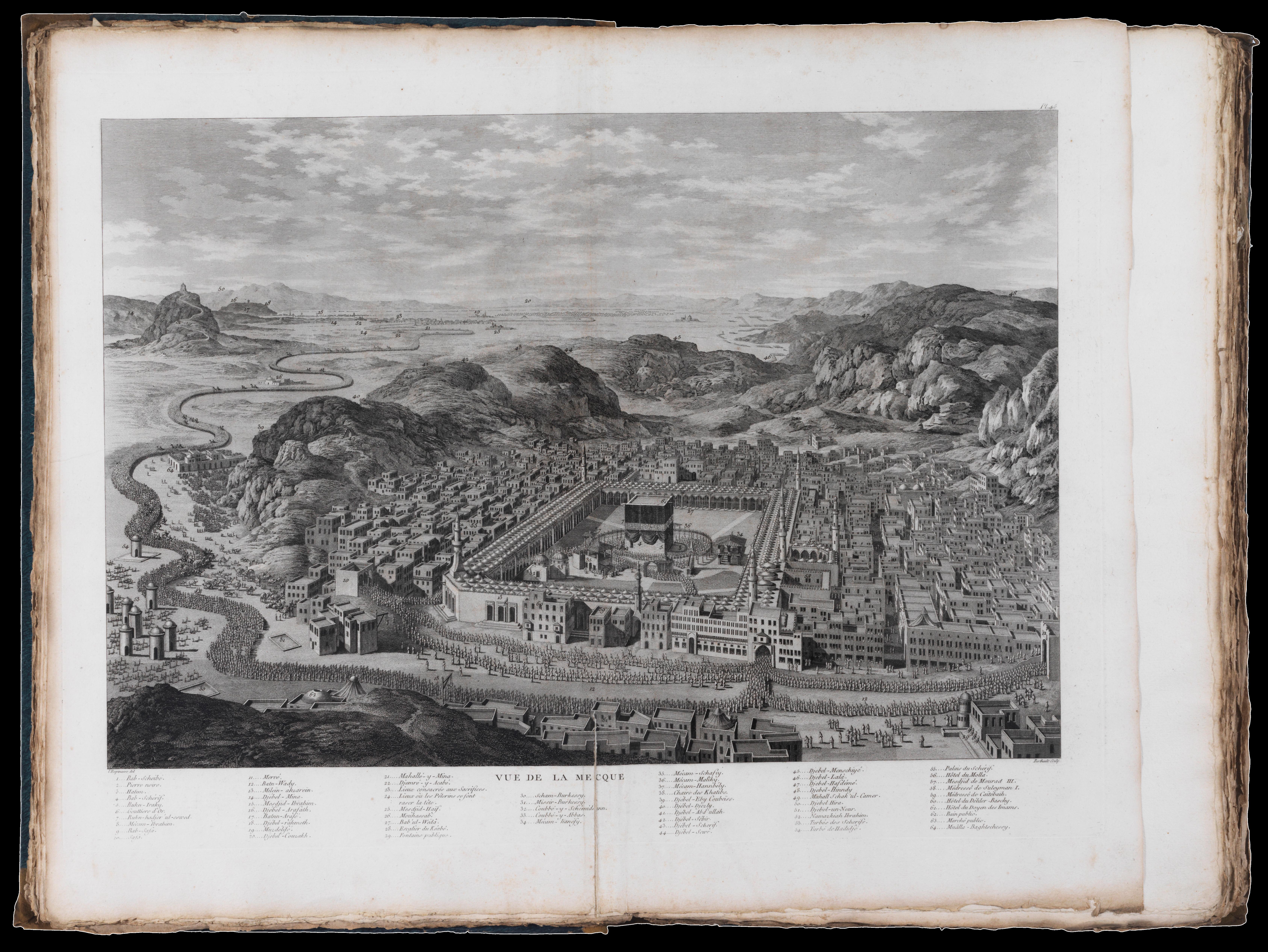 View of Mecca from Mouradgea d'Ohsson's  Tableau Général de l'Empire Ottoman