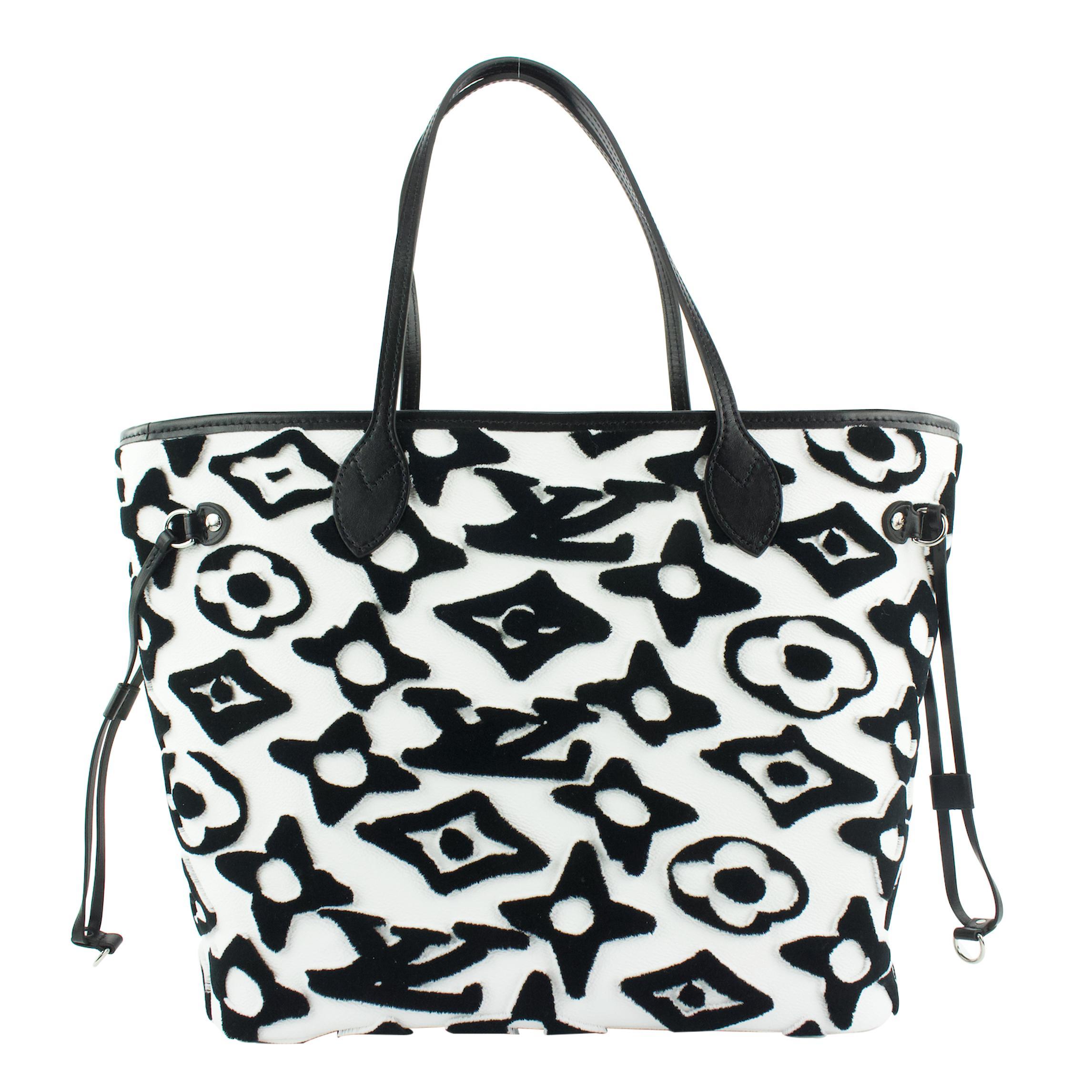 black-and-white-monogram-tuffetage-canvas-lv-x-uf-neverfull-mm-tote-58ec