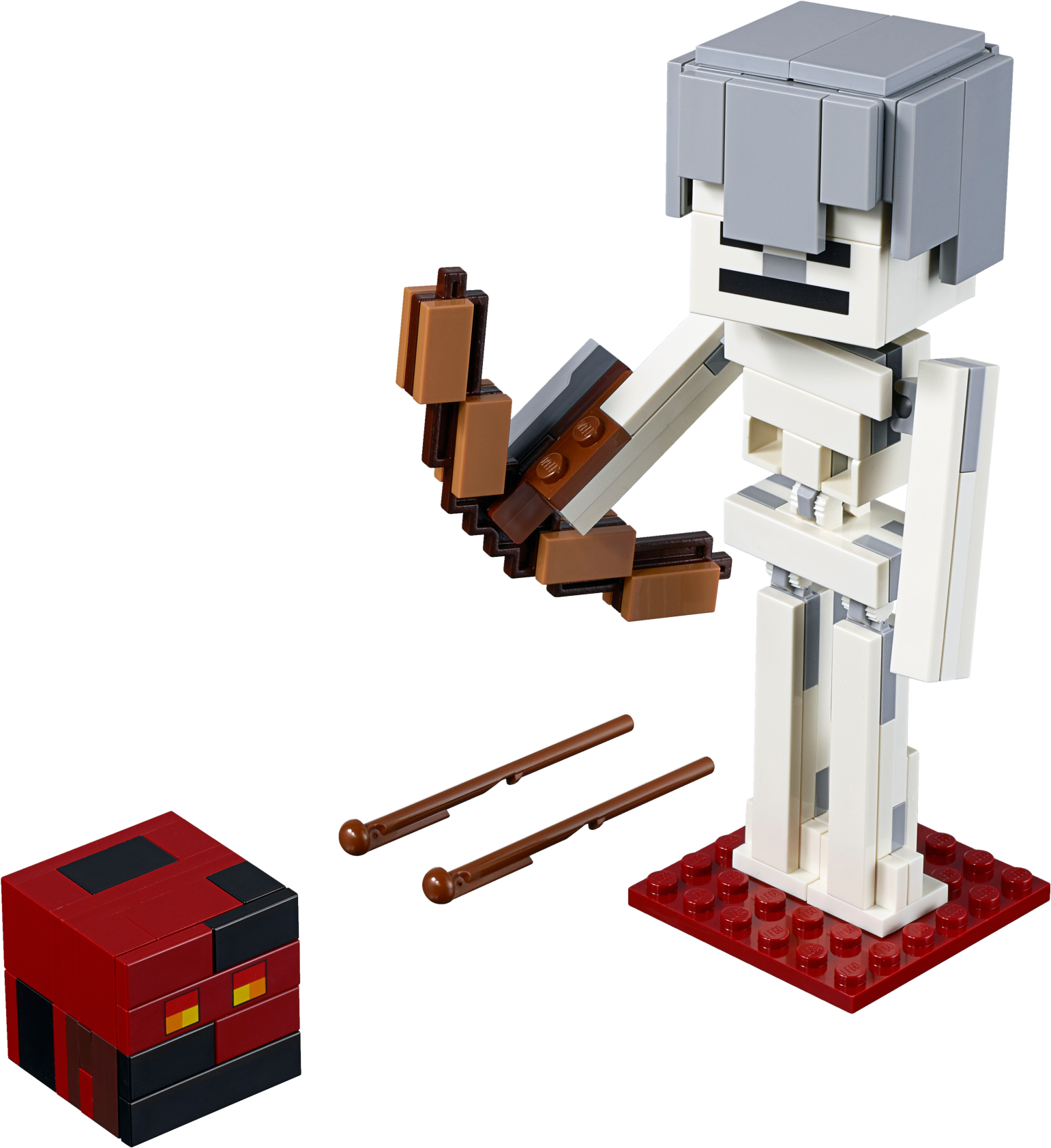 Minecraft™ Skeleton BigFig with Magma Cube