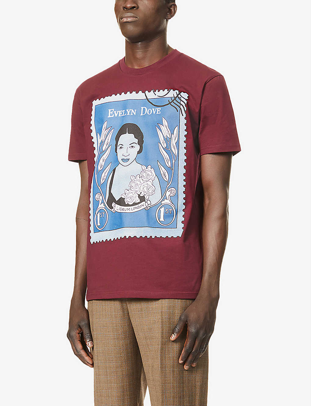 EVELYN DOVE STAMP TEE  RED
