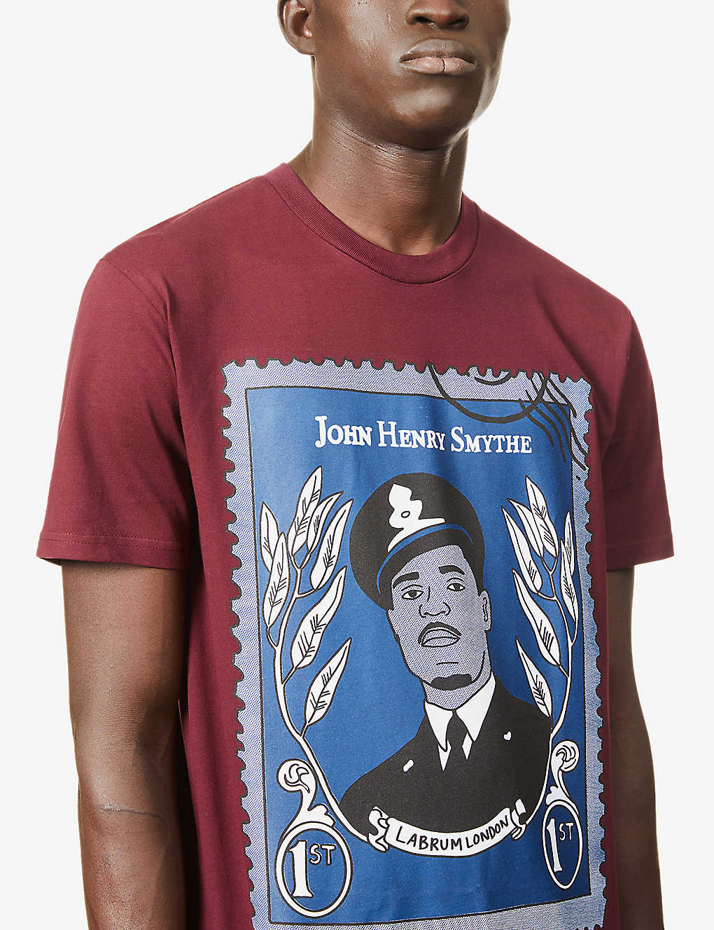 JOHN HENRY SMYTHE STAMP TEE  RED