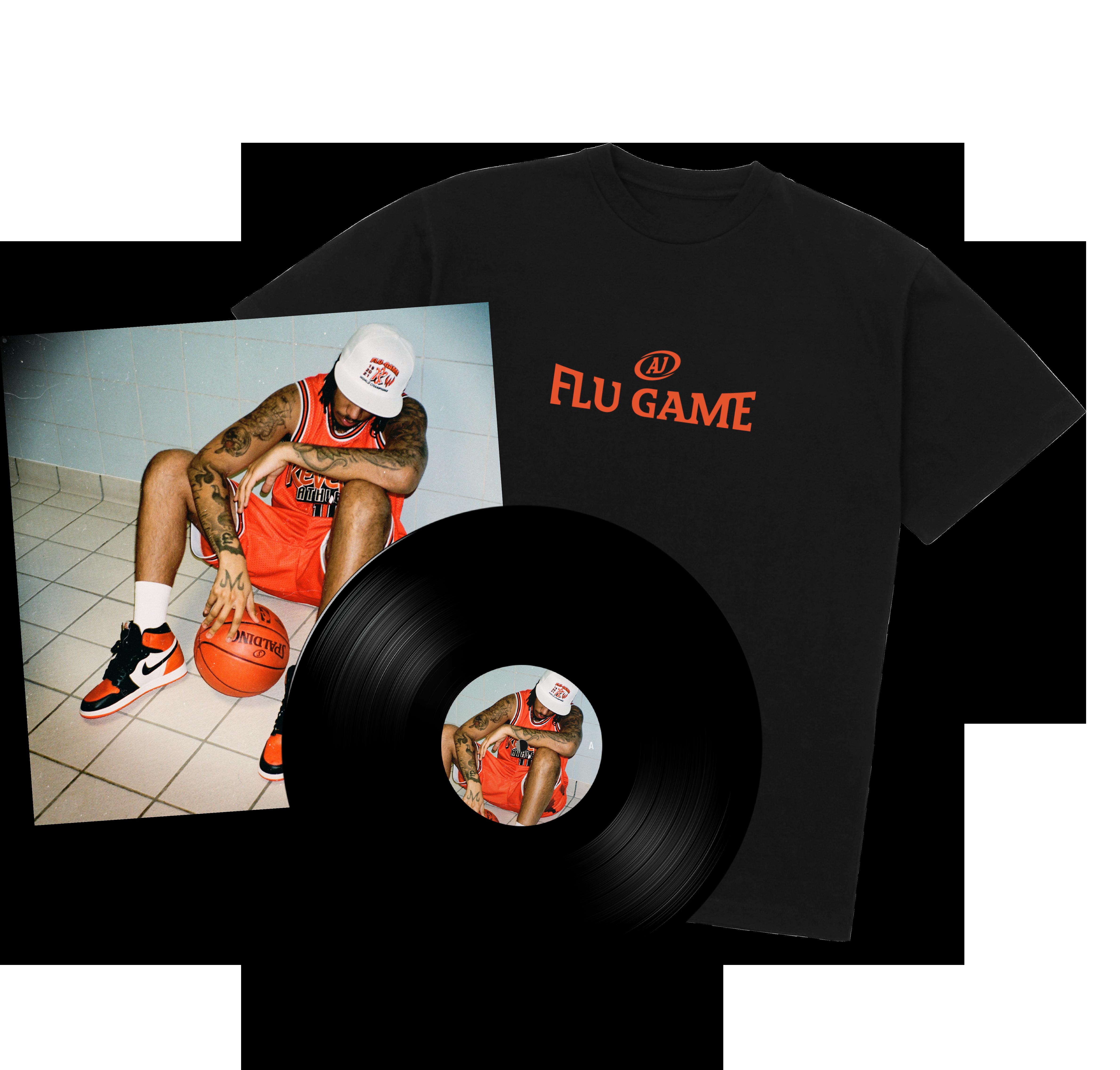 Flu Game LP + T-Shirt Bundle - Black