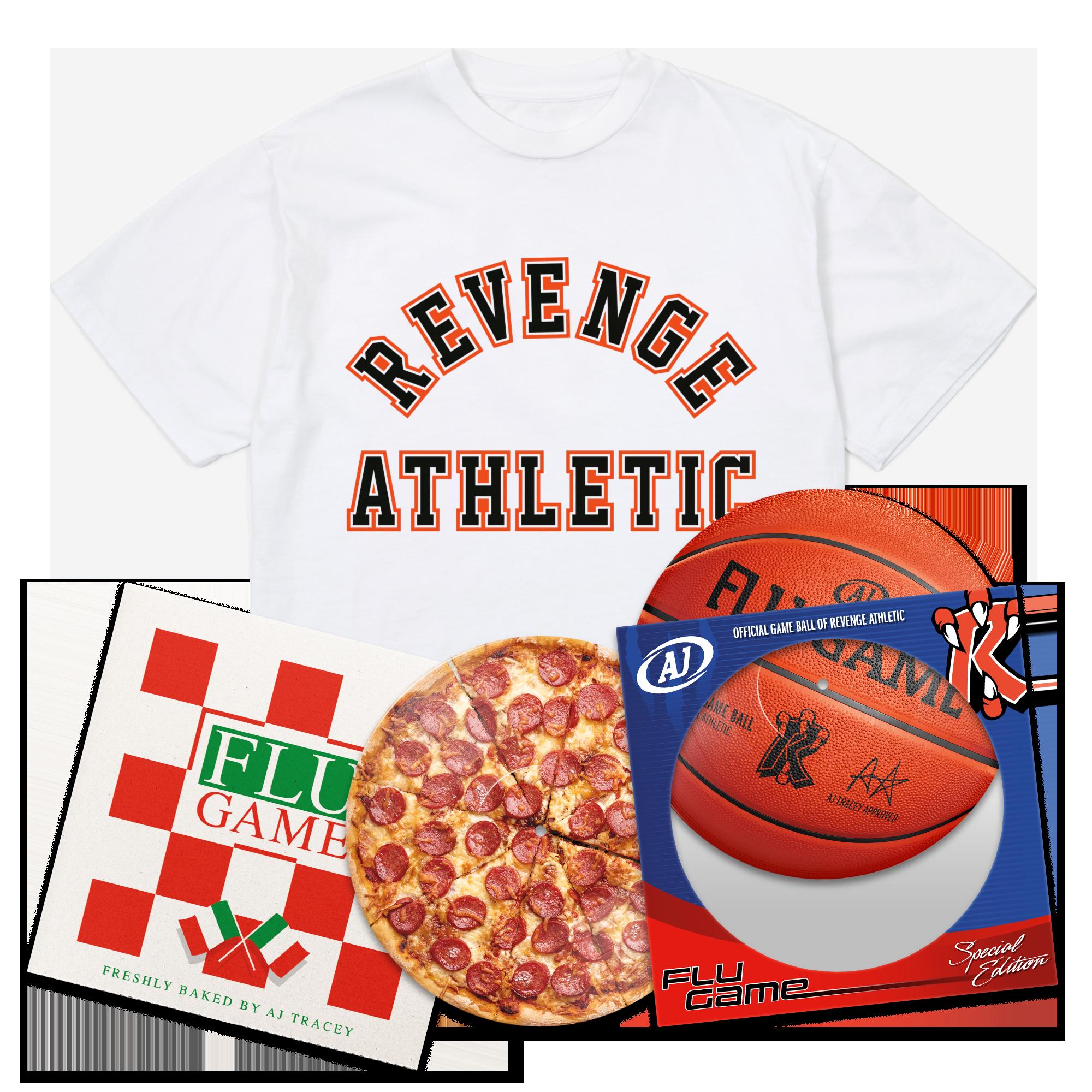 Flu Game Limited Edition LP + Collegiate T-Shirt Bundle - White