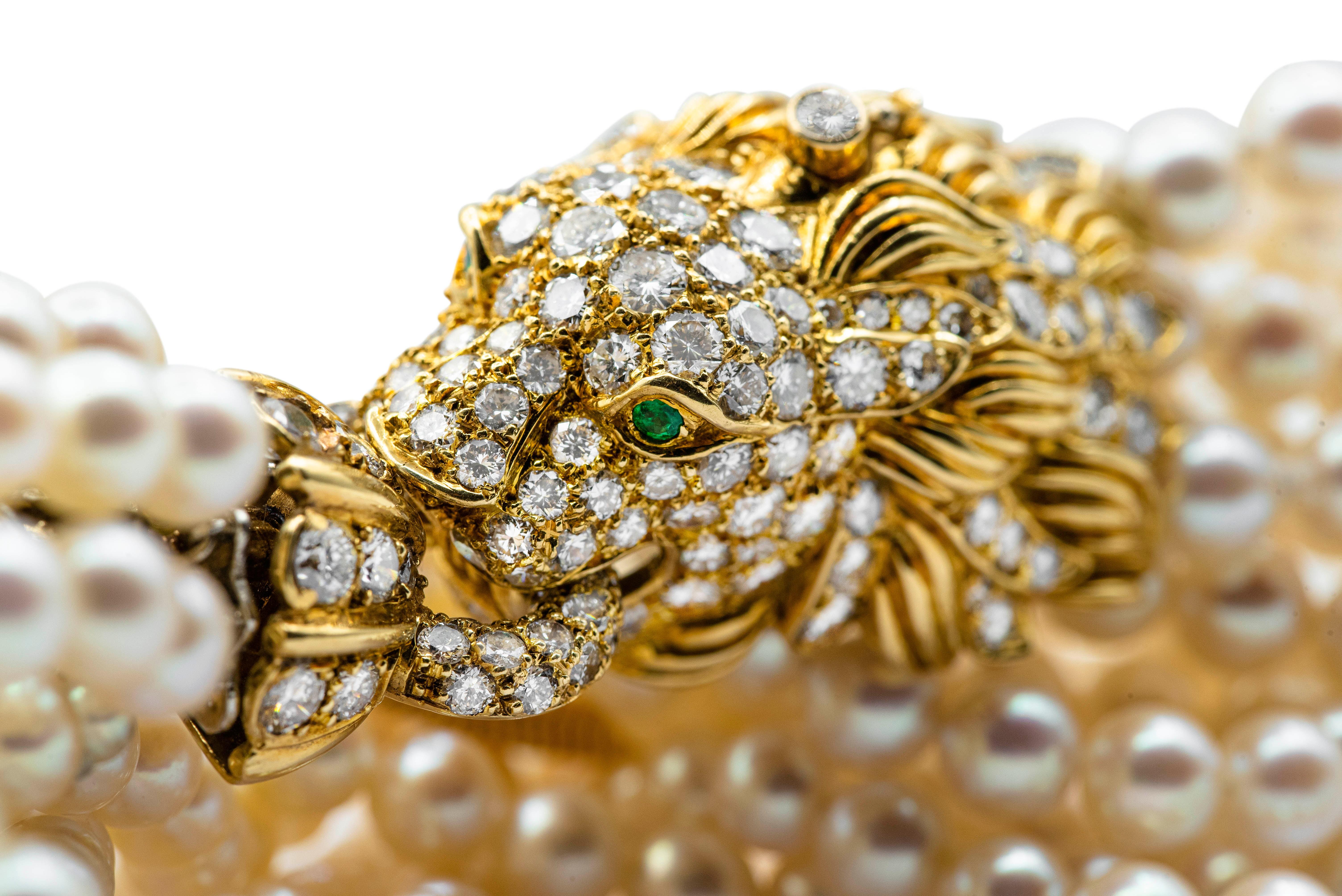 pearl-and-diamond-lion-bracelet