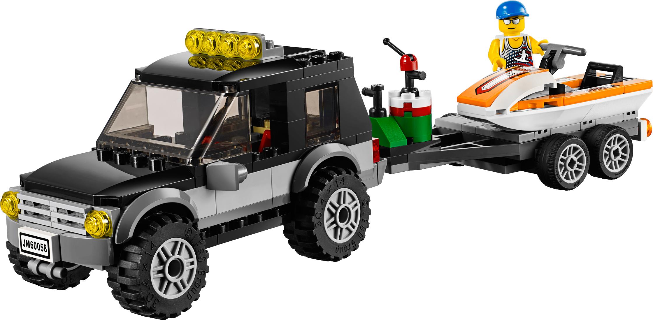 SUV with Watercraft