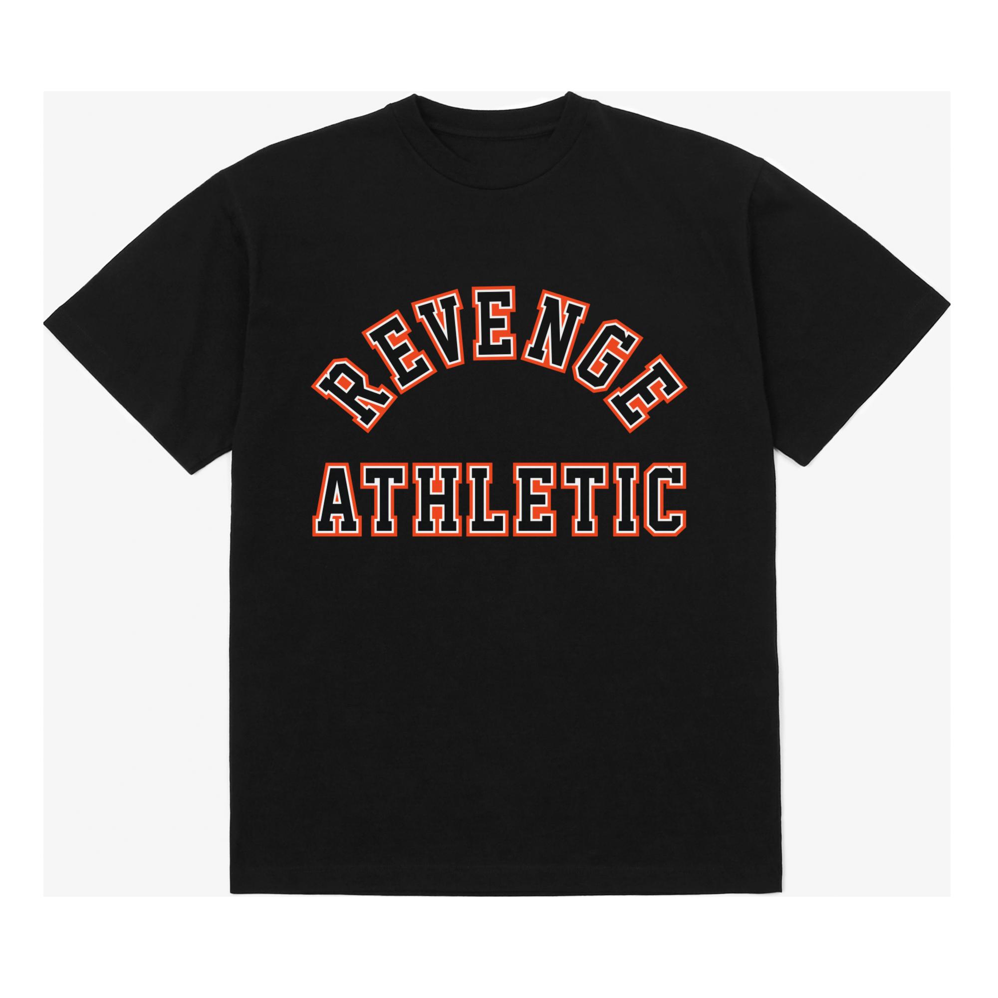 Revenge Athletic Collegiate T-Shirt - Black