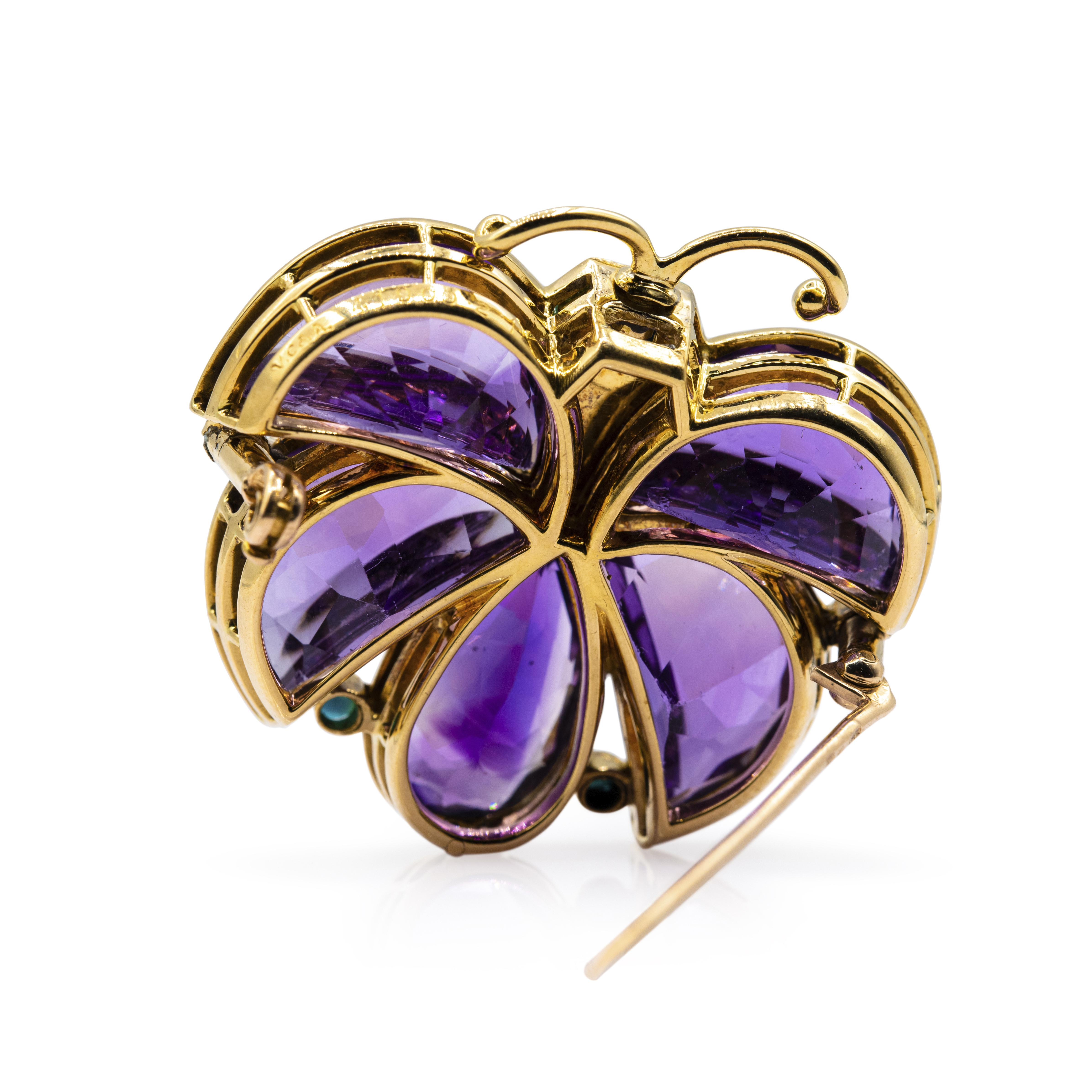 amethyst-and-turquoise-butterfly-brooch