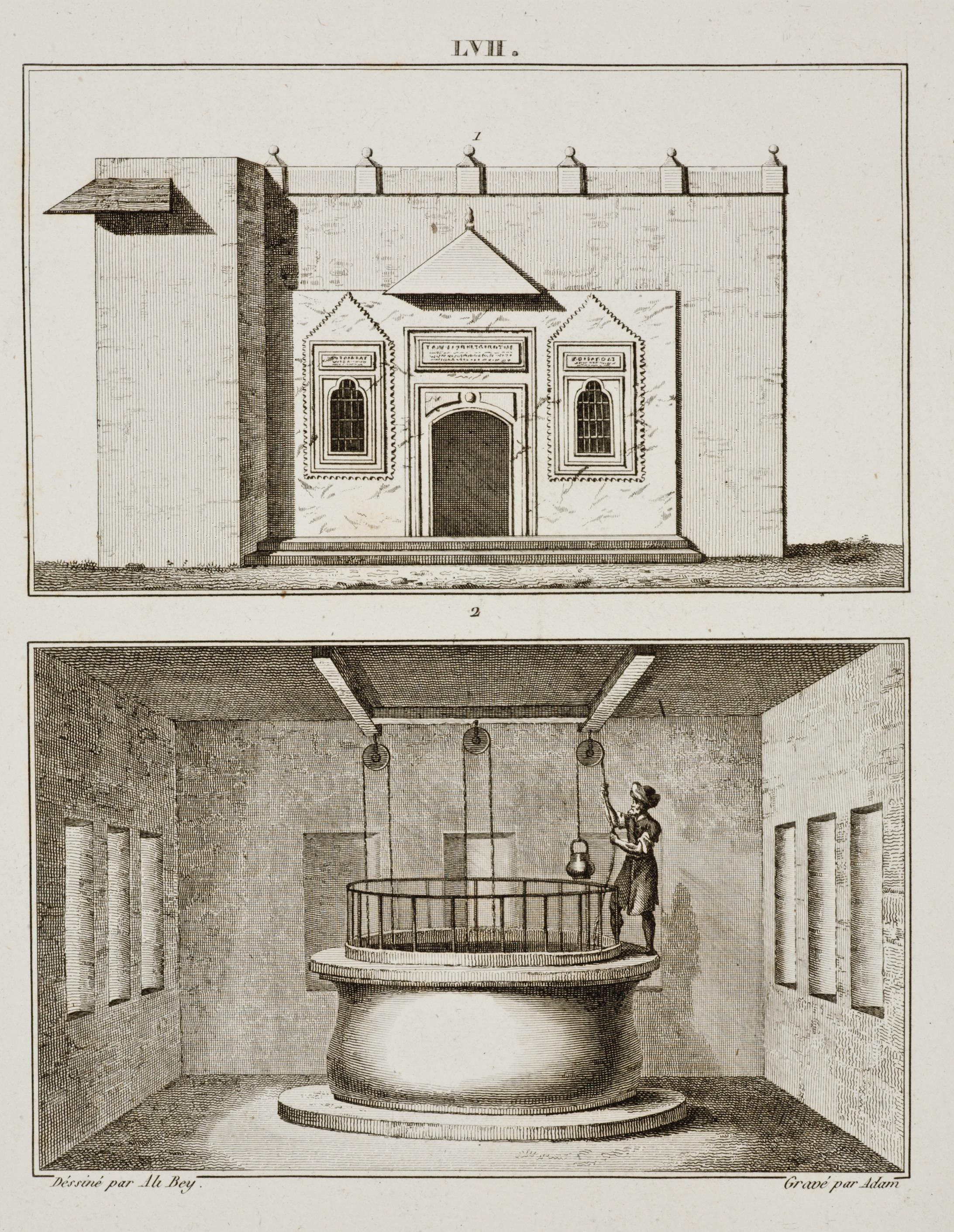 The well of Zamzam from 'Ali Bey El-Abbassi, Travels of Ali Bey, in Morocco, Tripoli, Cyprus, Egypt, Arabia, Syria, and Turkey