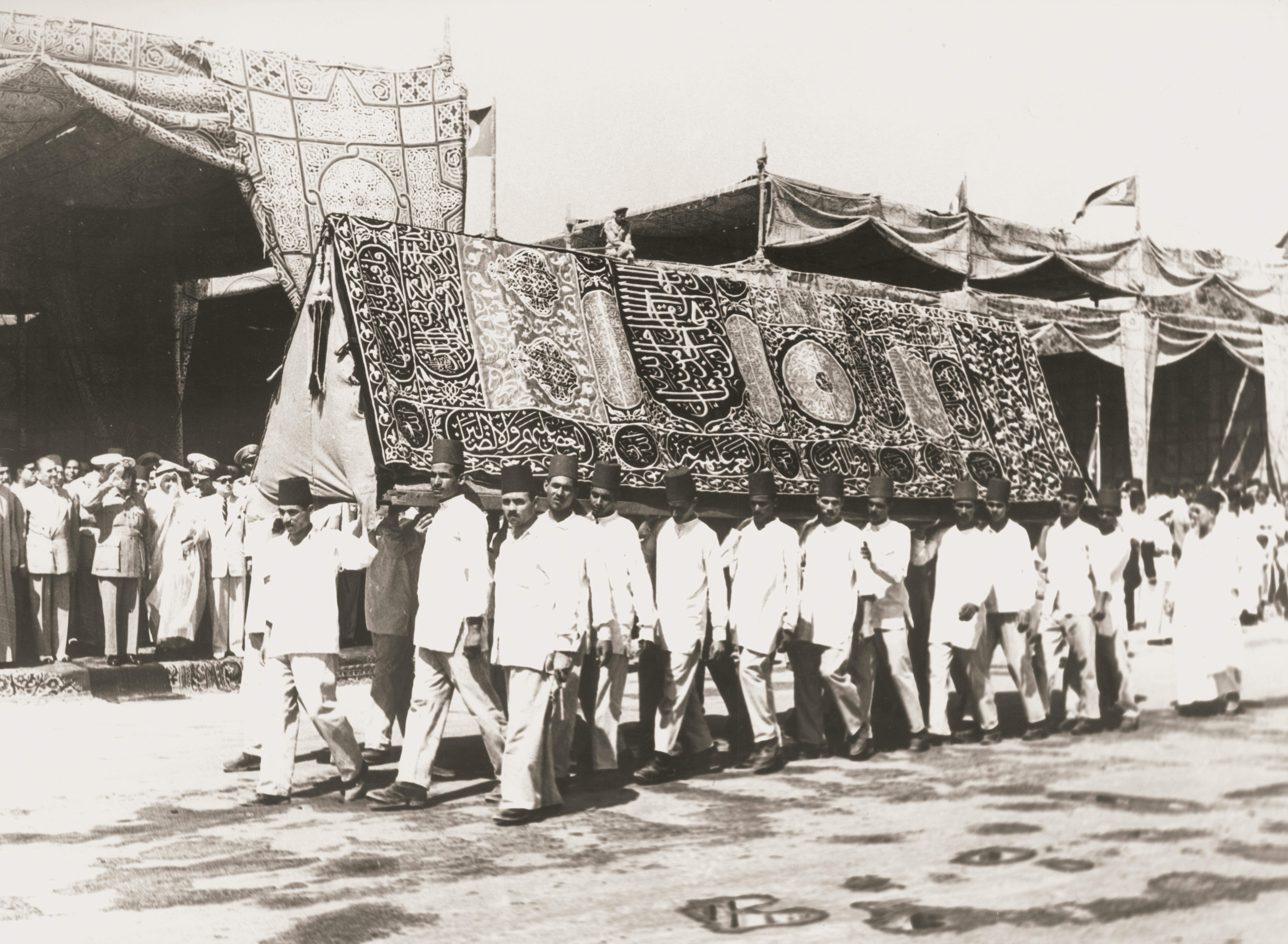Procession for the departure of the mahmal and the kiswah