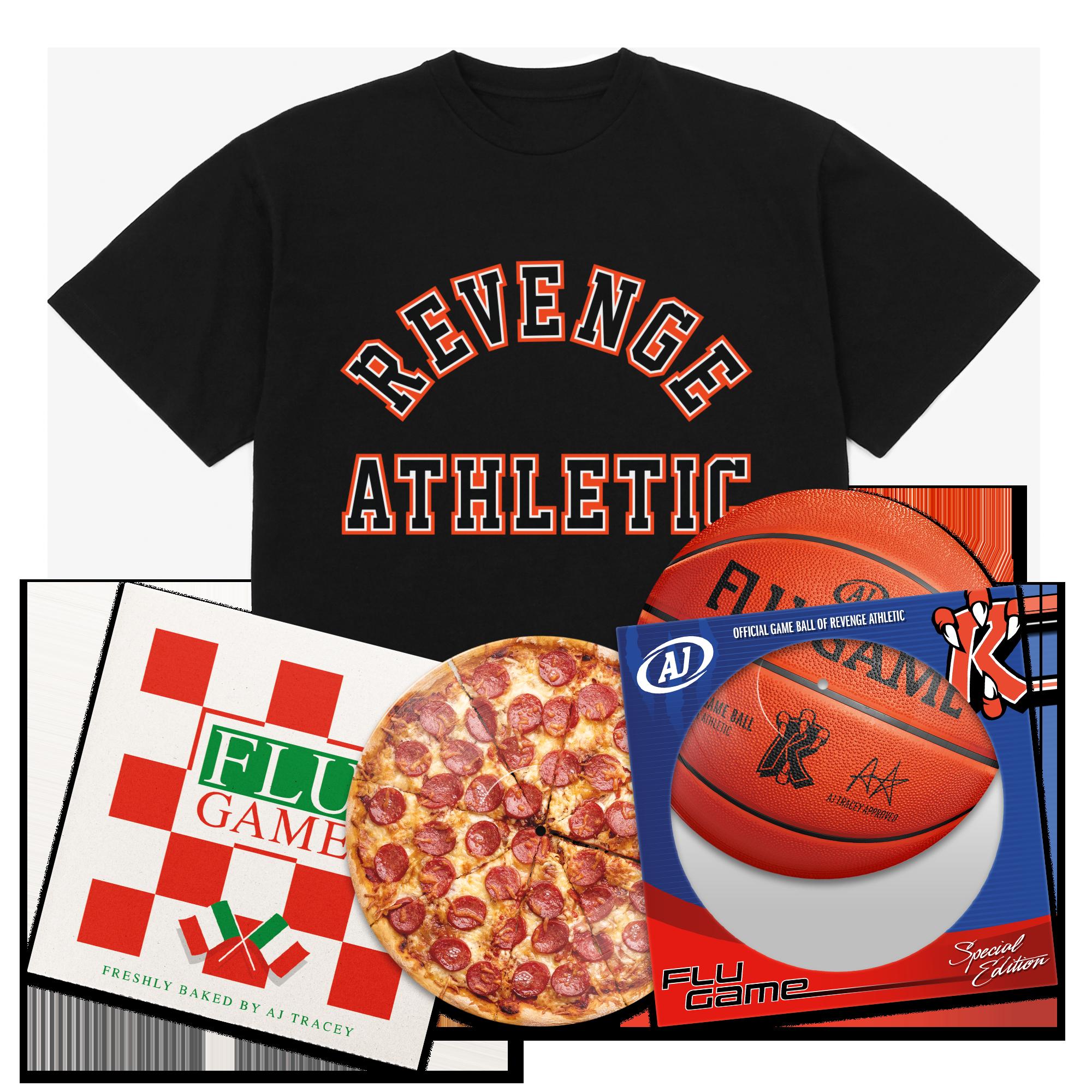 Flu Game Limited Edition LP + Collegiate T-Shirt Bundle - Black