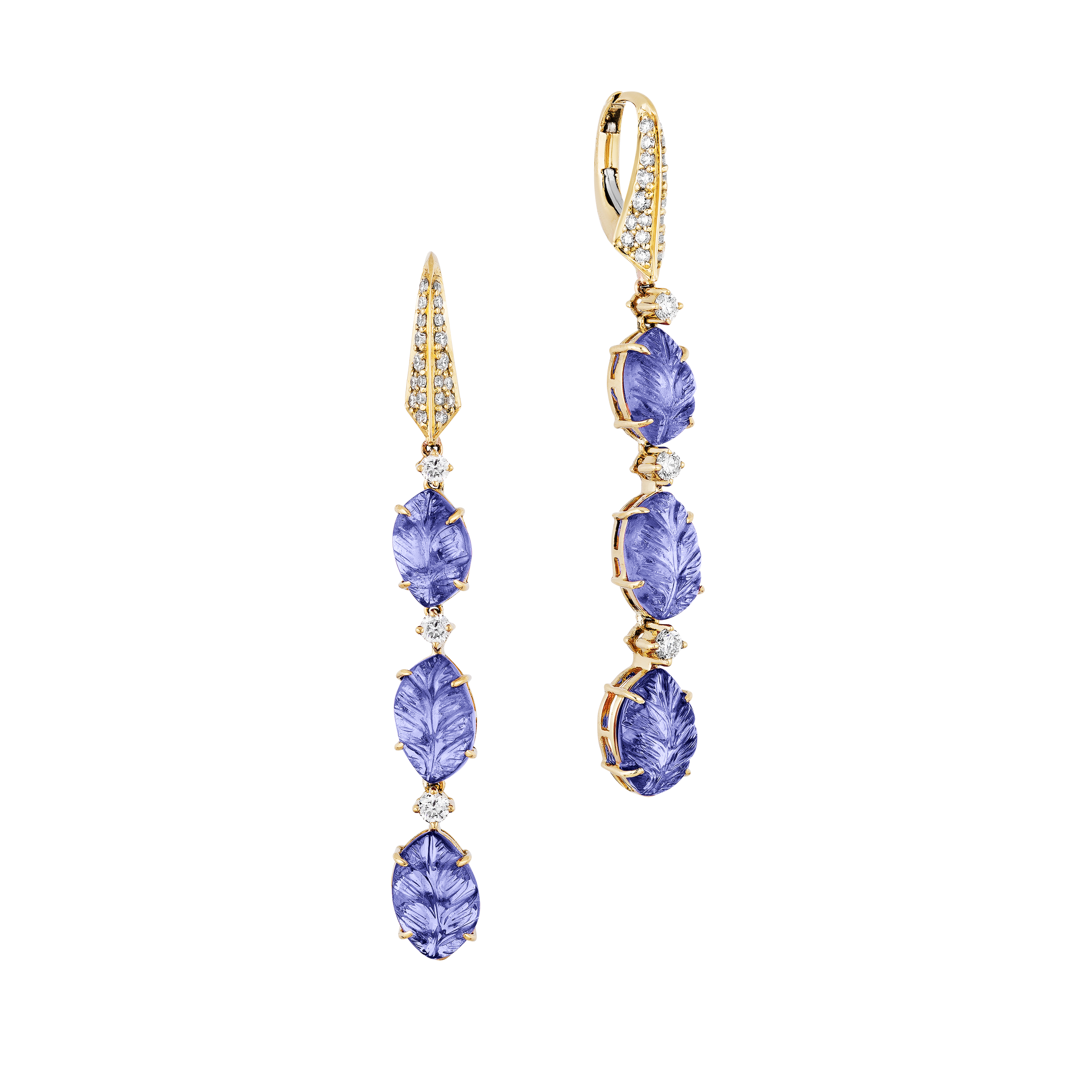 a-pair-of-carved-tanzanite-leaf-earrings-a621