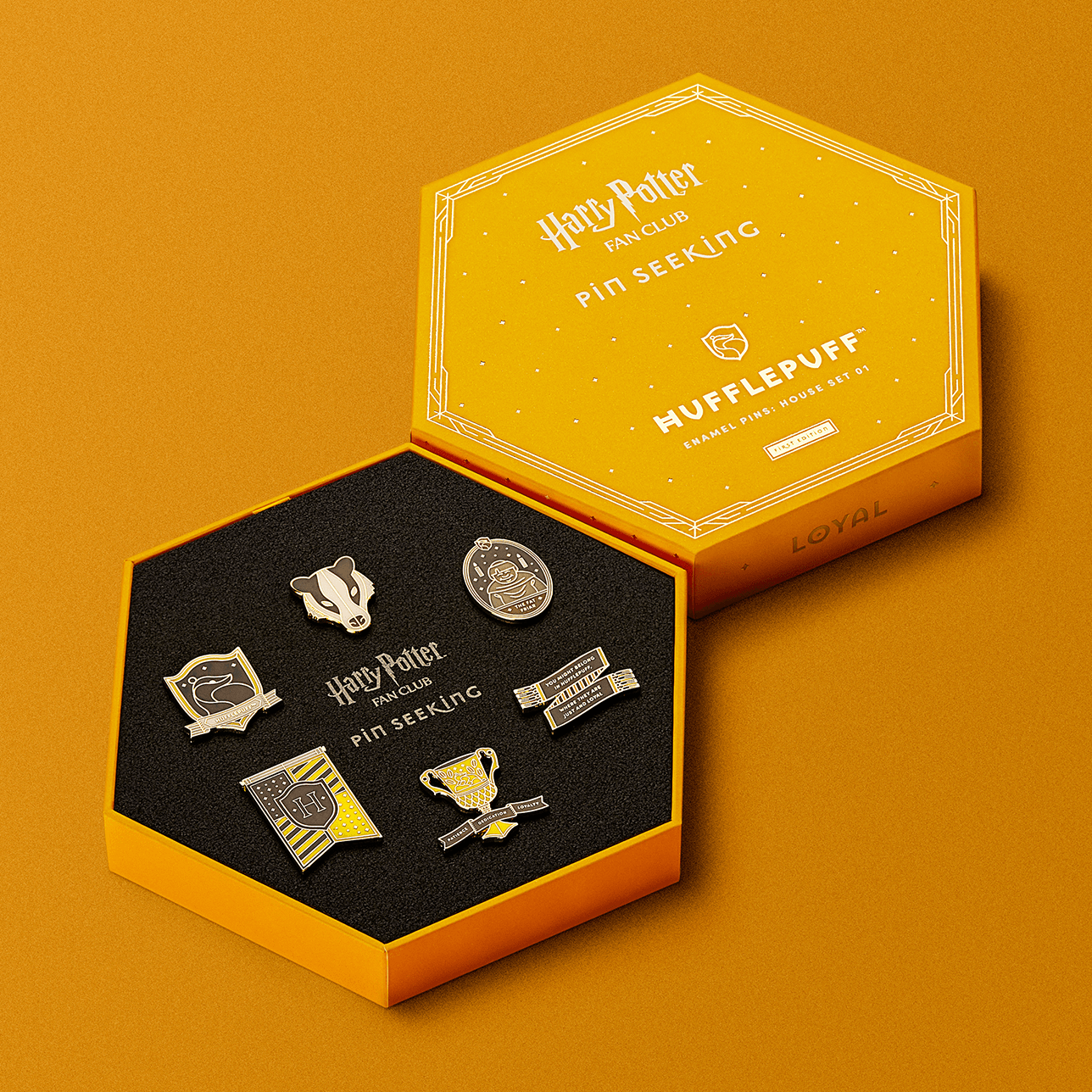 First Edition: Hufflepuff™ Enamel Pins: House Set 01