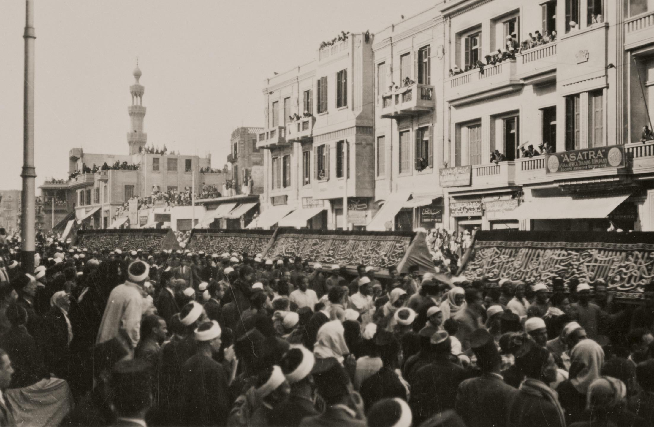 The Procession of the Mahmal and the Kiswah in Cairo
