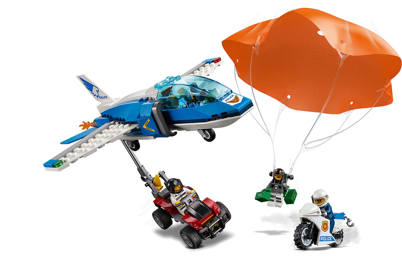 Sky Police Parachute Arrest