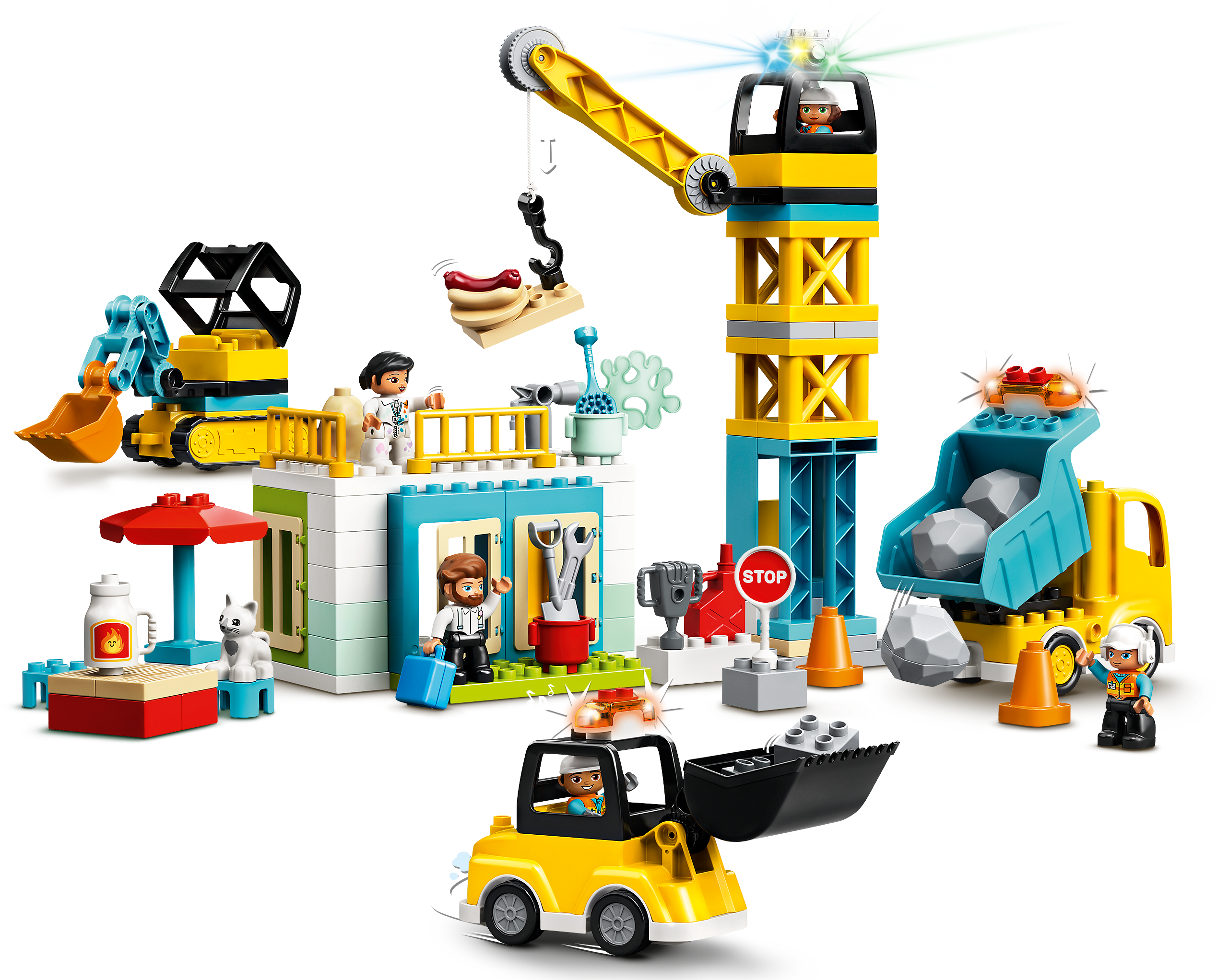 Lego Duplo - Tower and crane construction