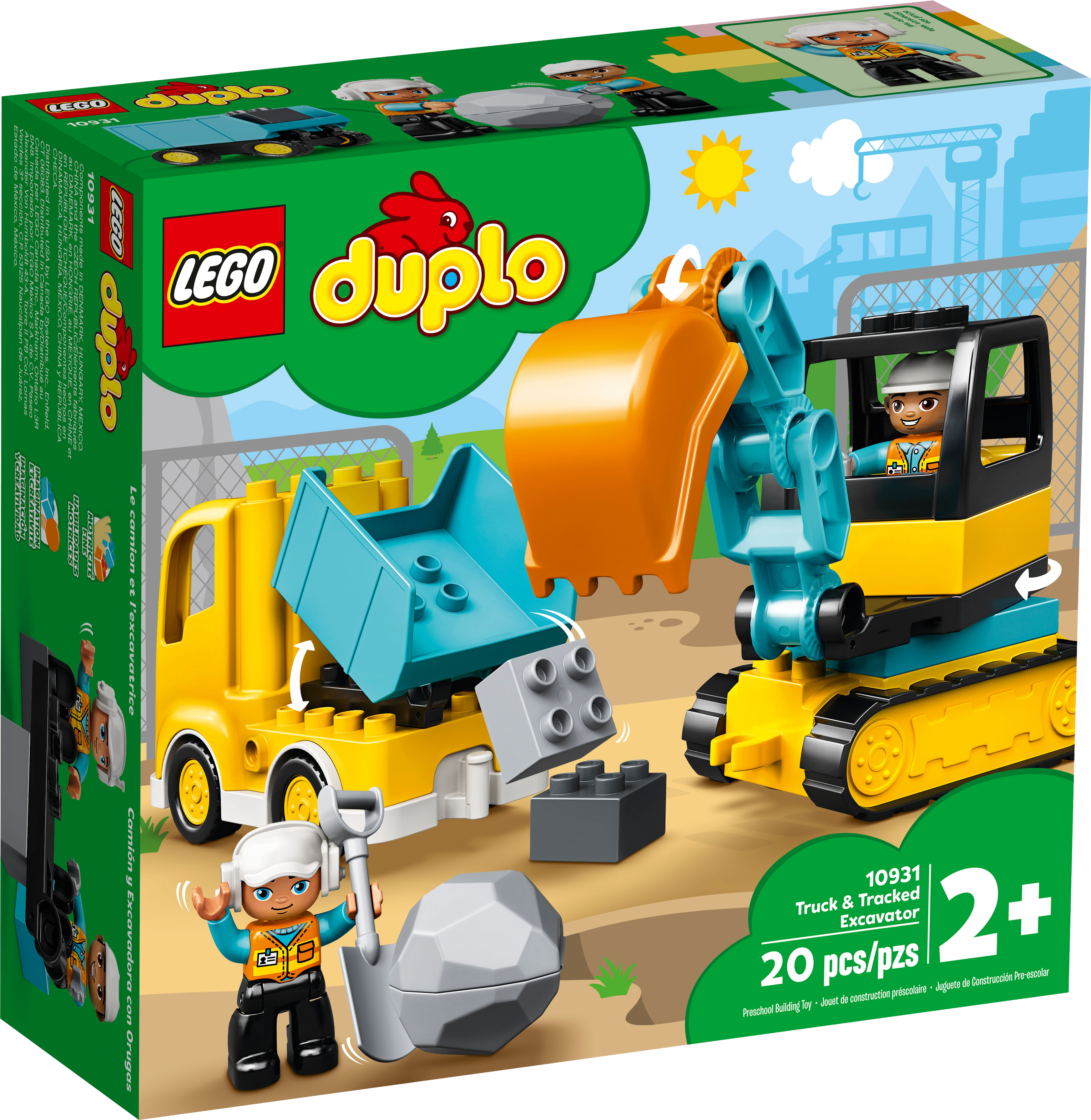 Lego Duplo - Truck and Tracked Excavator