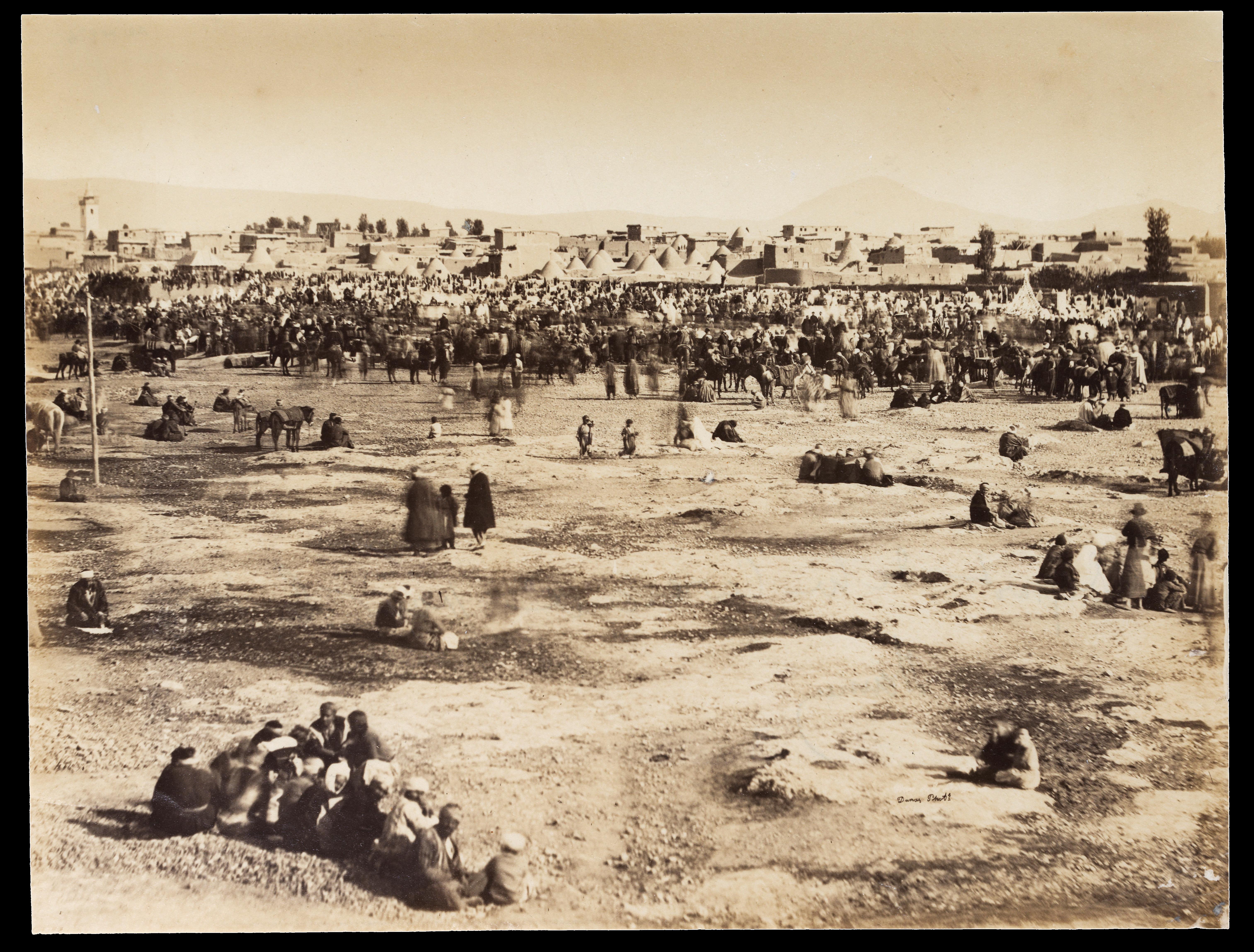 Damas, départ de la caravane pour la Mecque