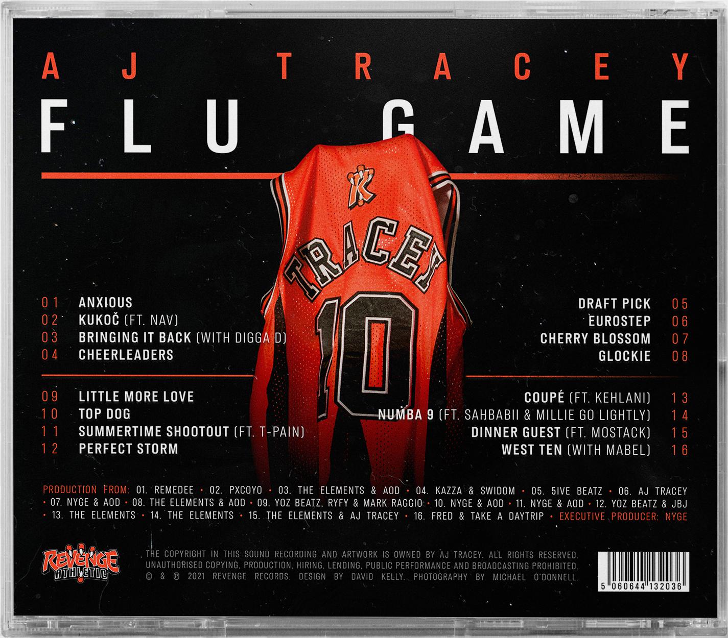 Flu Game CD + Collegiate T-Shirt Bundle - Black