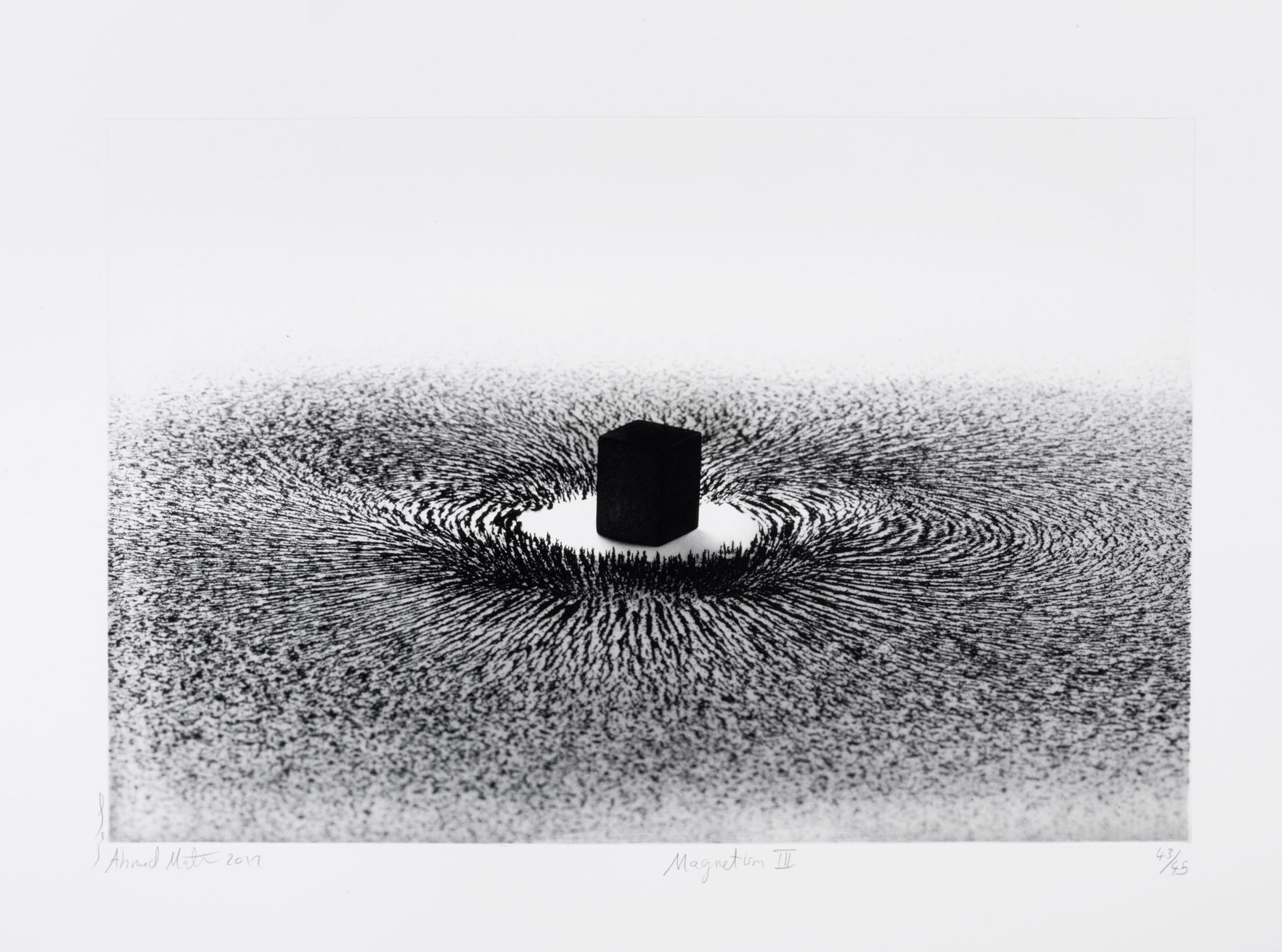 Magnetism I – IV Limited edition, no. 43 of 45 of four etchings by Ahmad Mater