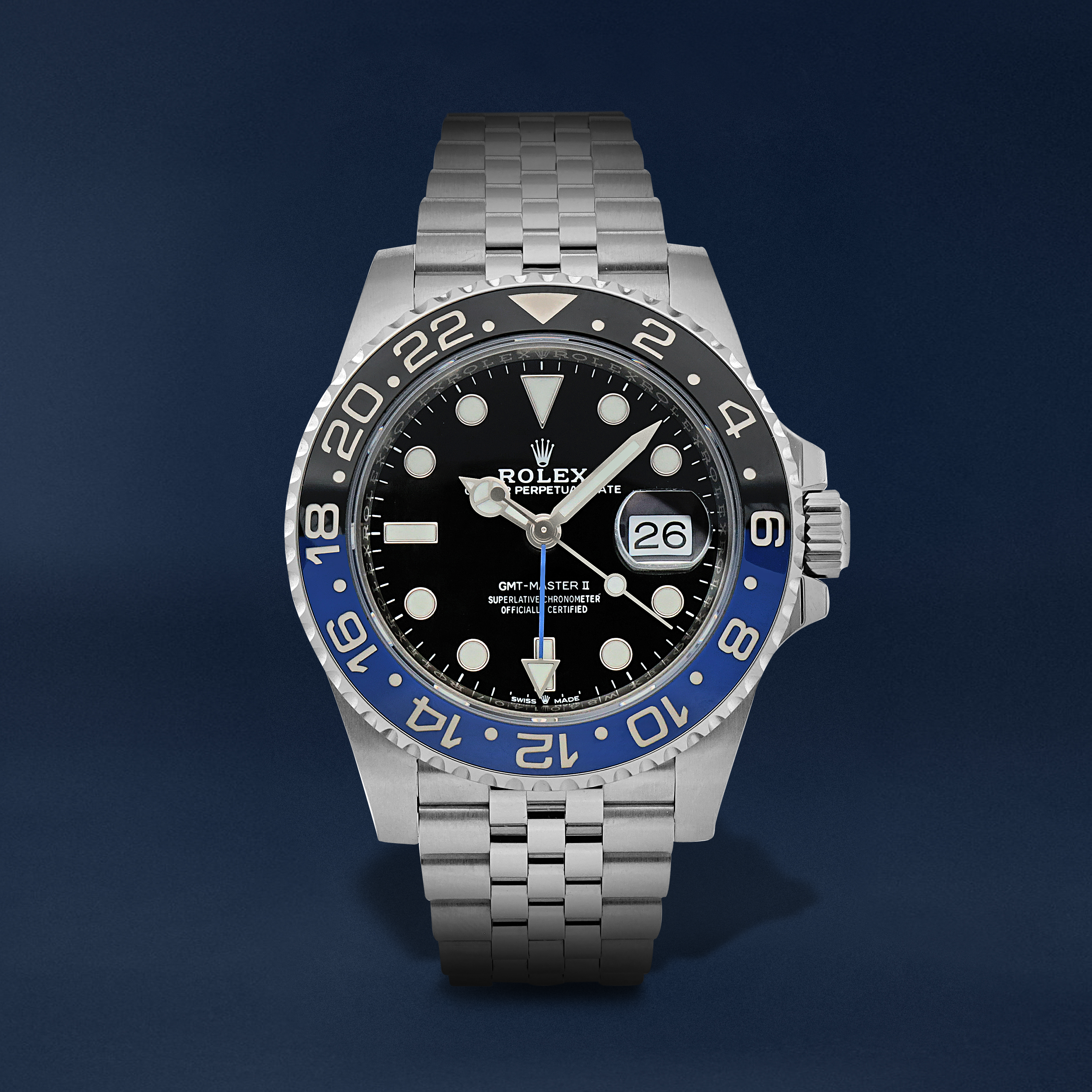 gmt-master-ii-batman-reference-126710blnr-a-stainless-steel-automatic-dual-time-zone-wristwatch-with-date-and-bracelet-6ae6