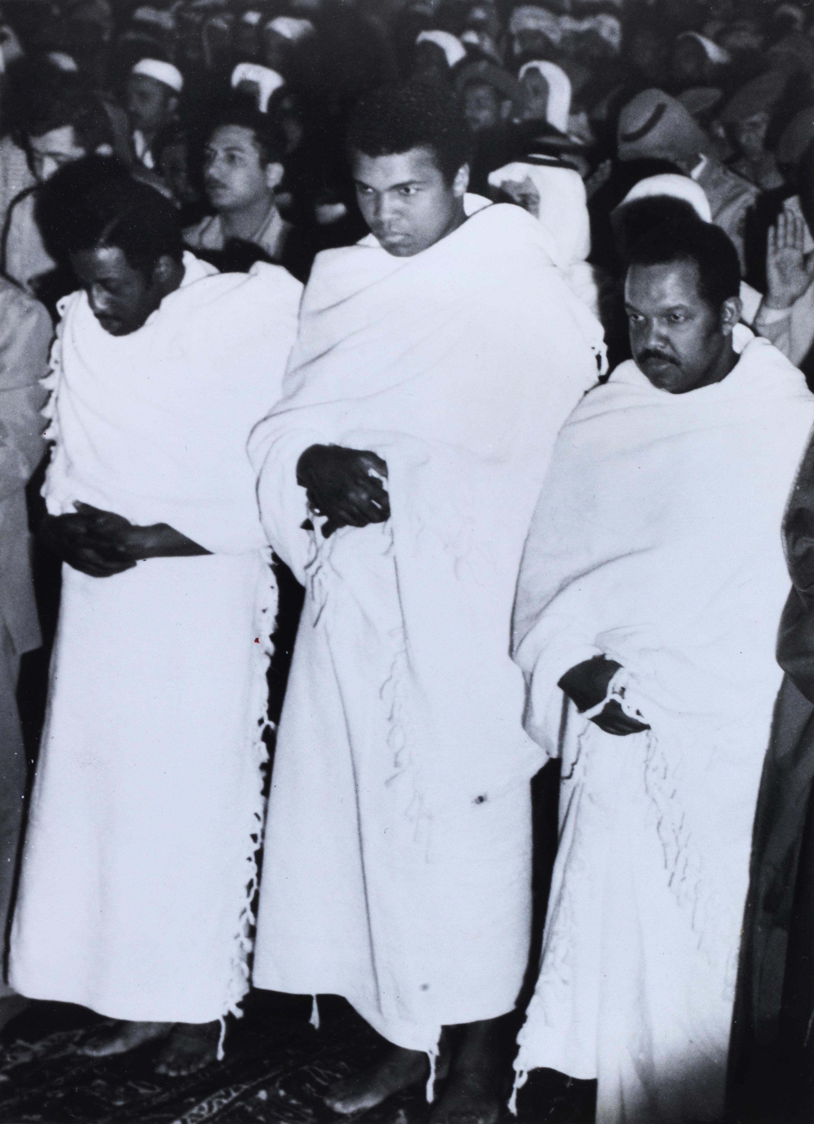 Photograph of Muhammad 'Ali (Cassius Clay) in ihram